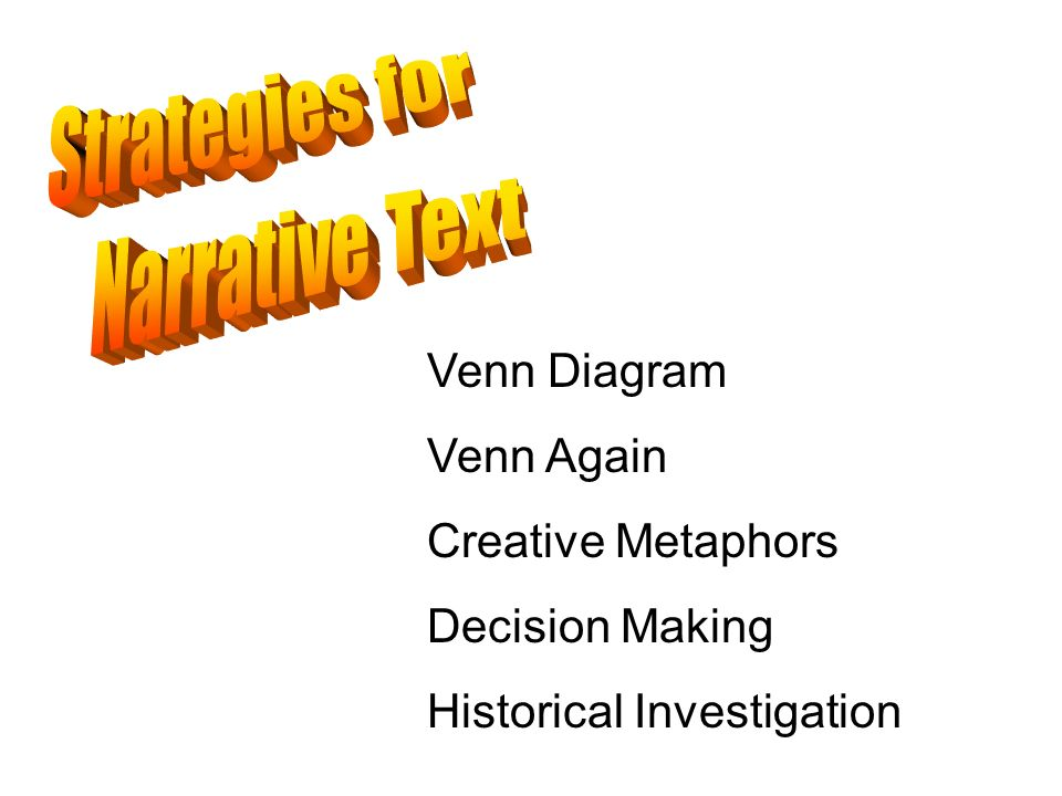 Venn Diagram Venn Again Creative Metaphors Decision Making Historical Investigation