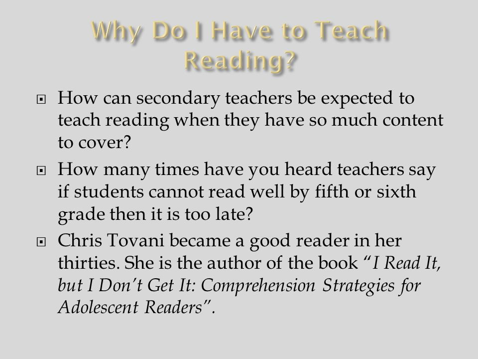 Many students are afraid to admit they cannot read.