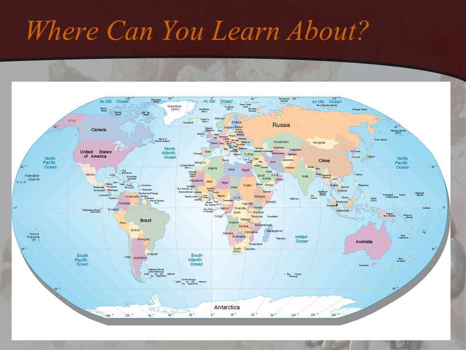 Where Can You Learn About?