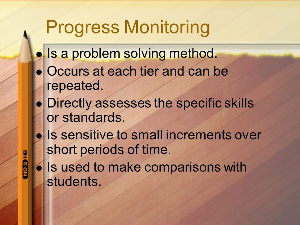 What is Progress Monitoring? 20 Regularly and systematically using multiple indicators to assess and monitor childrens progress