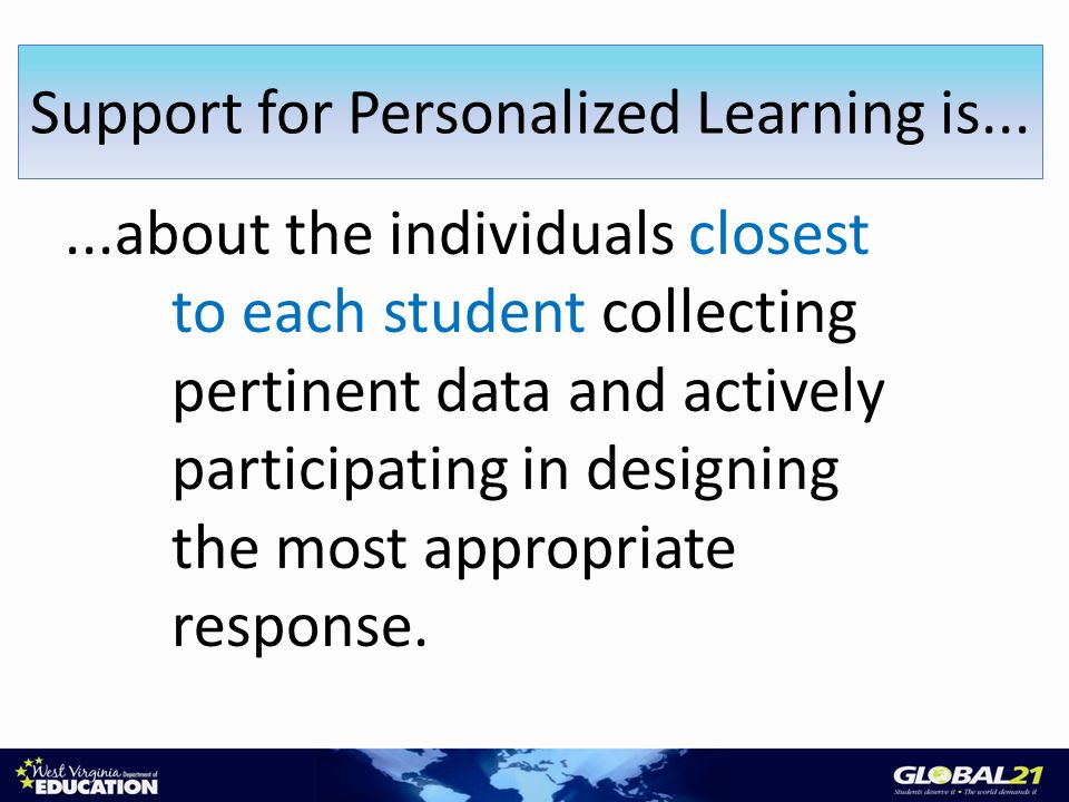 ...about the individuals closest to each student collecting pertinent data and actively participating in designing the most appropriate response.