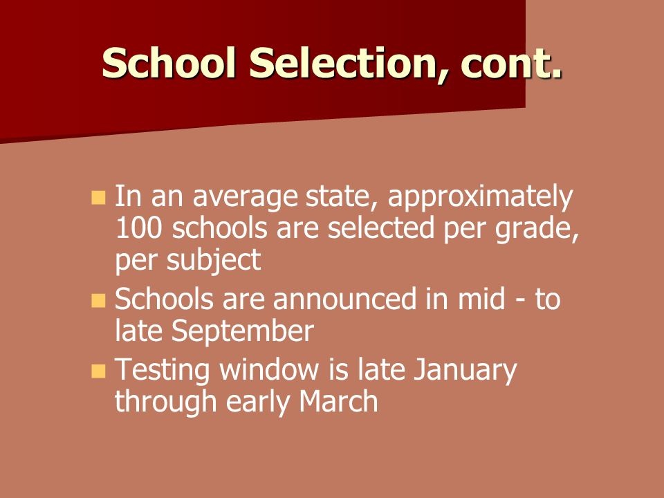 School Selection, cont.