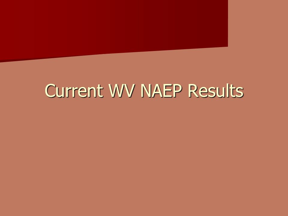 Current WV NAEP Results