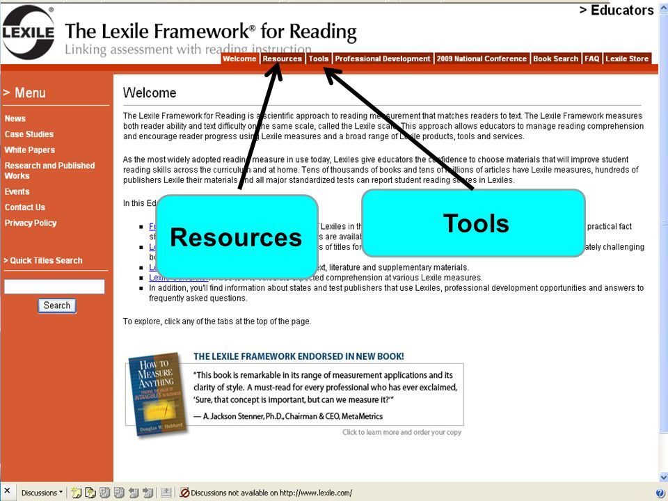 Resources and Tools for Educators Resources Tools