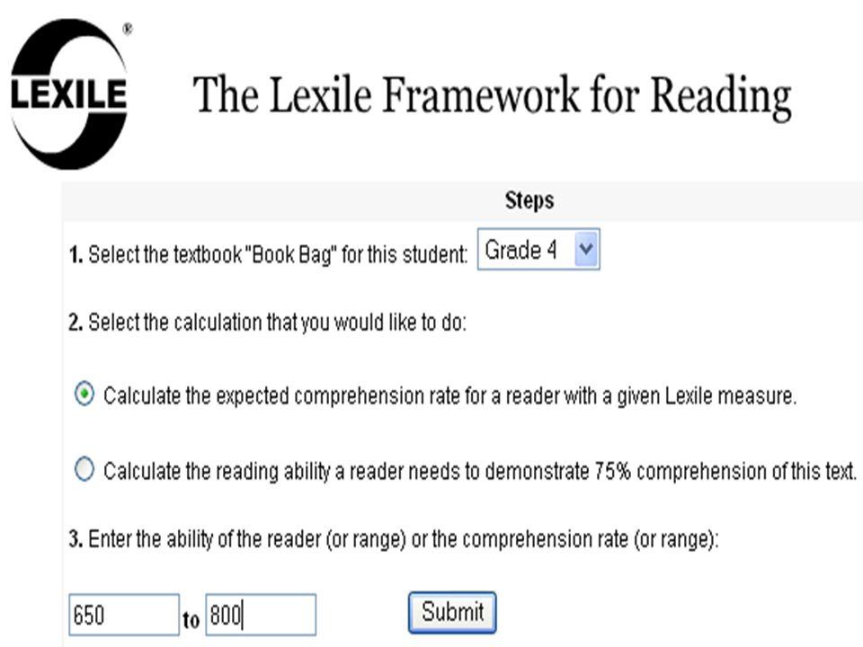 Tools - Lexile Calculator