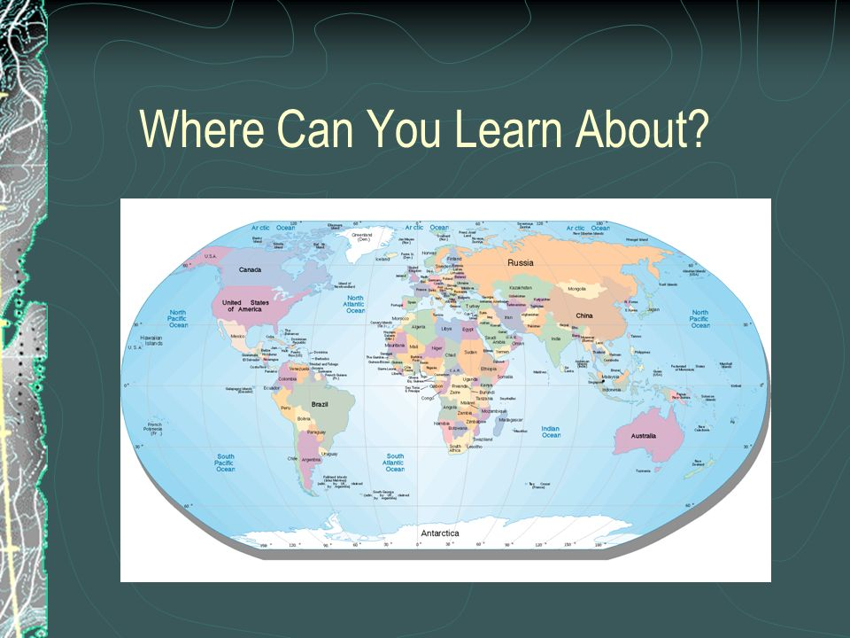 Where Can You Learn About