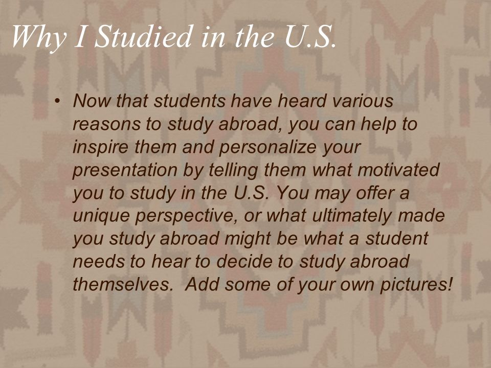 30 Why I Studied in the U.S.