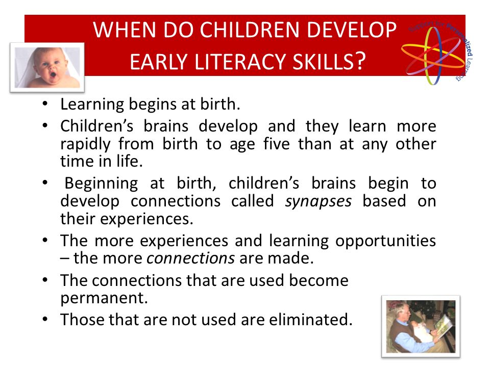 Childrens early experiences largely determine the way they will learn, think and behave for the rest of their lives.