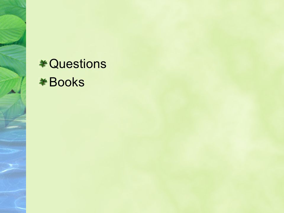 Questions Books