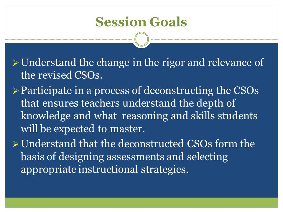 Three Ways to Improve Student Learning Raise the level of rigor in the content standards and objectives.