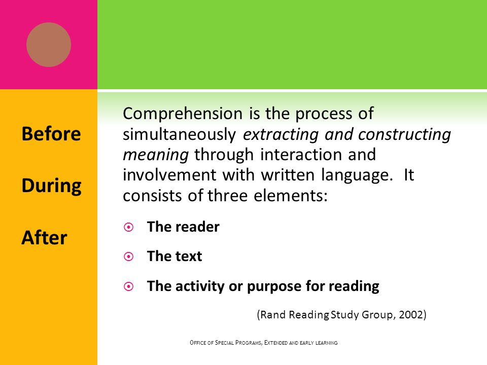 If students understand the meaning of critical vocabulary in the passage, their comprehension will be enhanced.