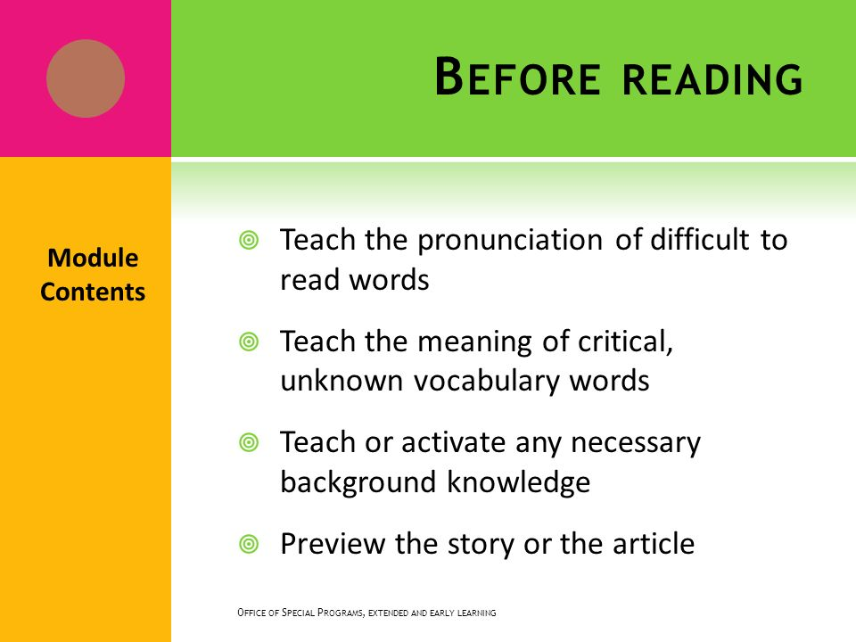 If students preview a passage, their comprehension is enhanced.
