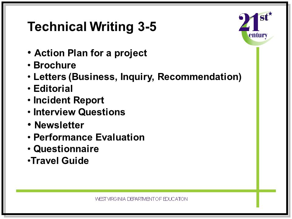 technical write