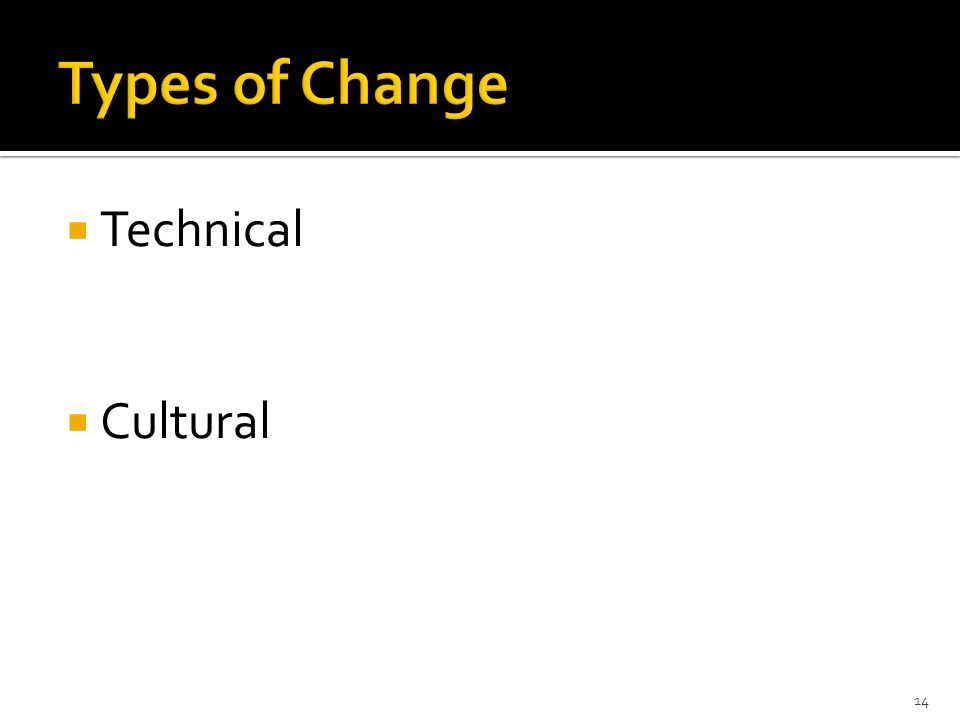 Technical Cultural 14