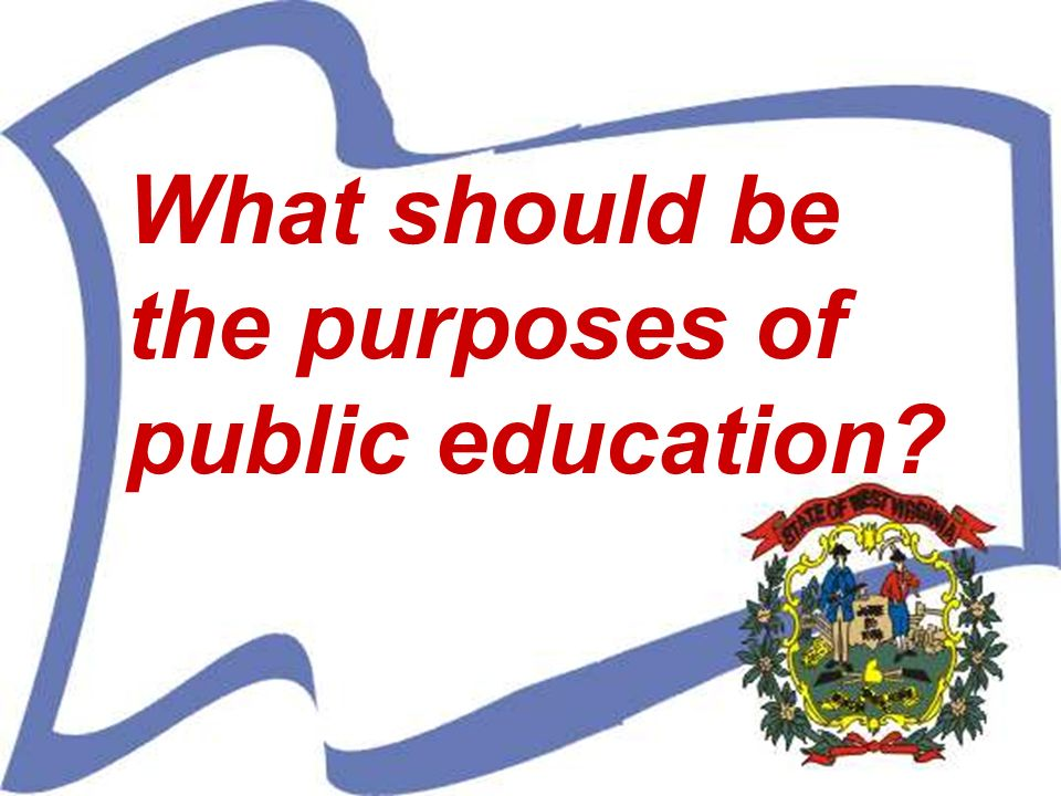 What should be the purposes of public education?
