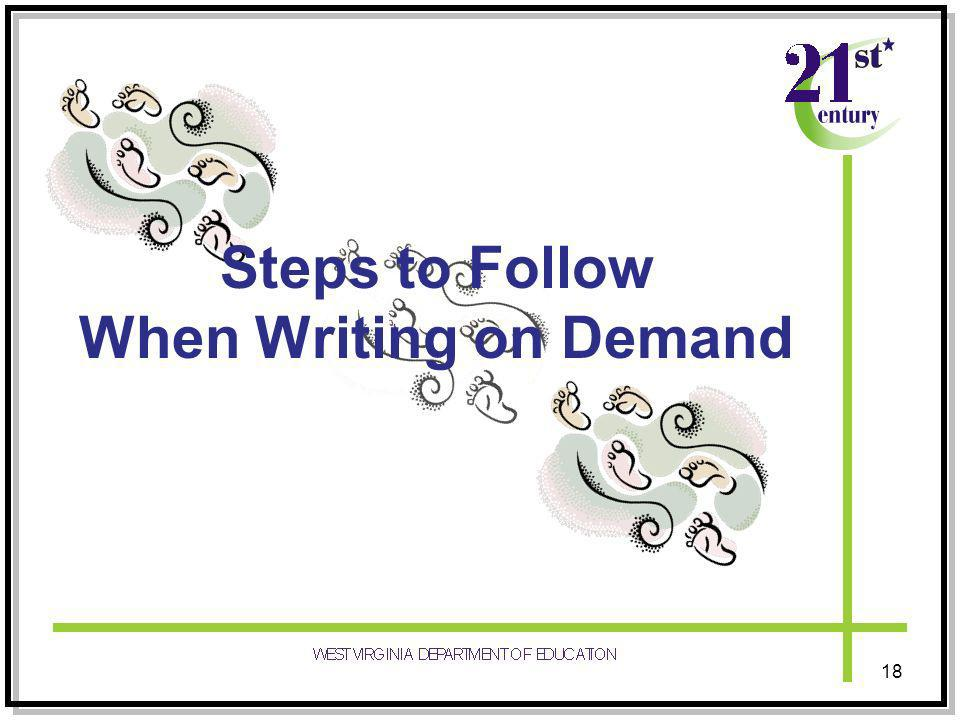 Steps to Follow When Writing on Demand 18