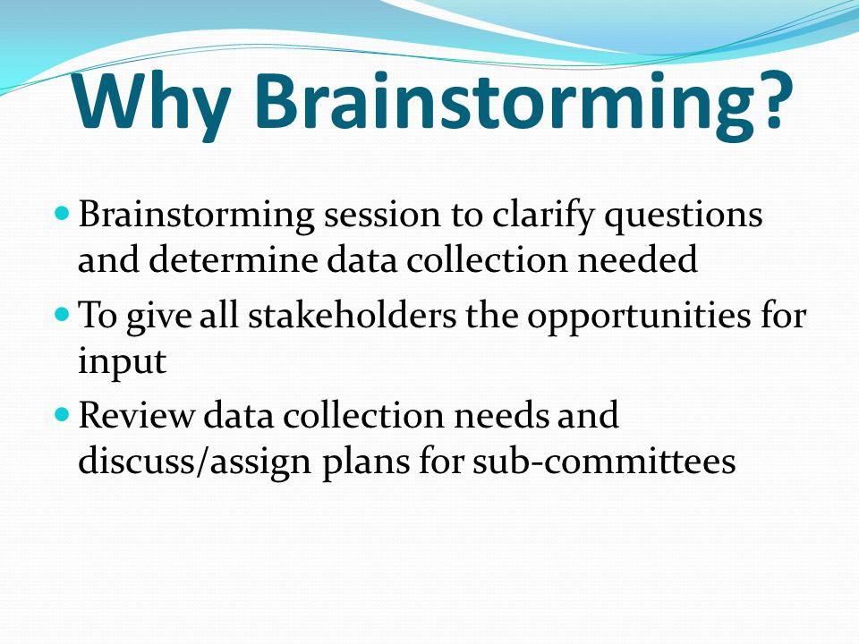 Why Brainstorming.