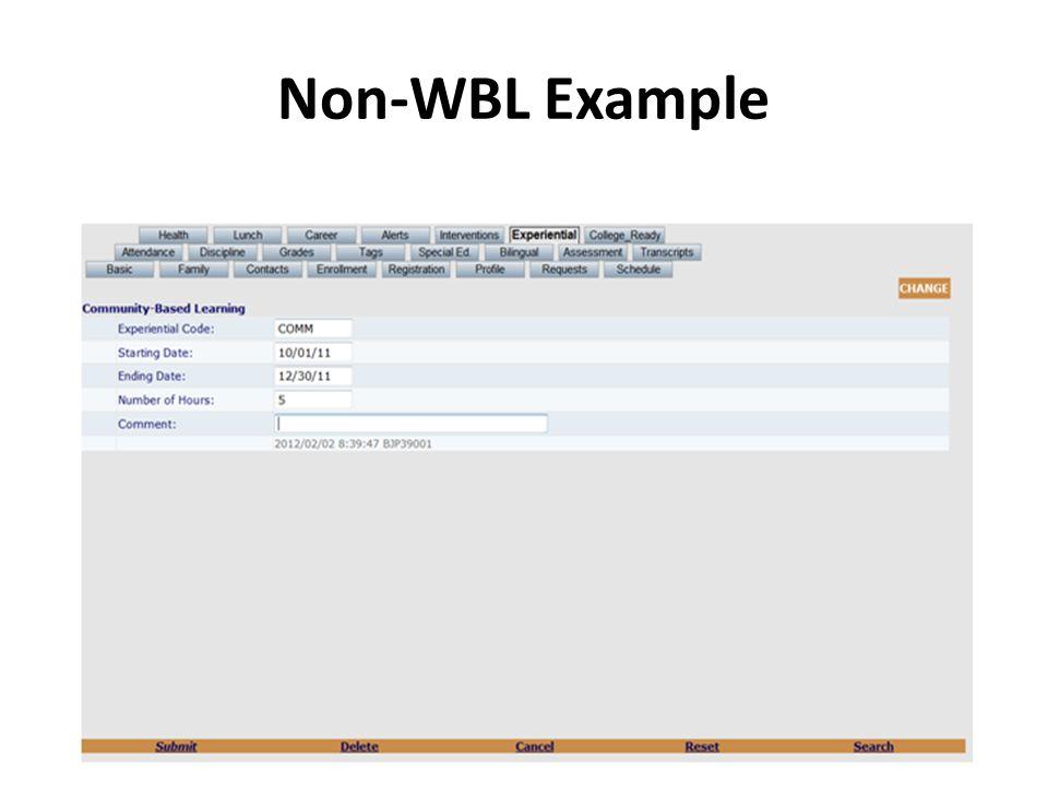 Non-WBL Example