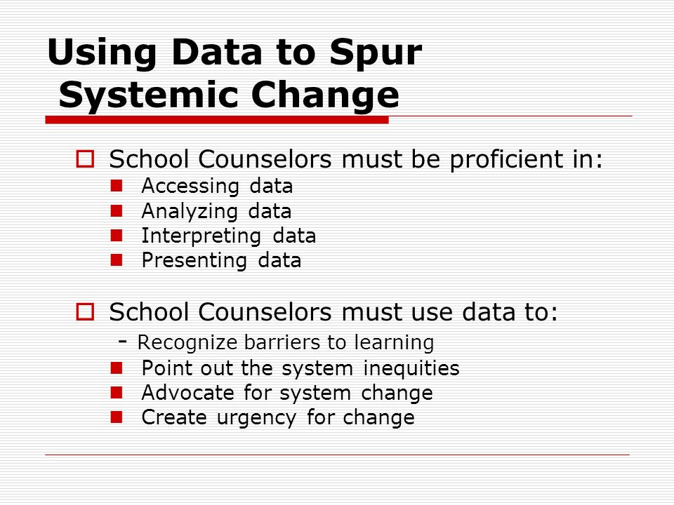 The Power of Data Challenge existing behavior, funding patterns, programs, & policies Use as an accountability tool Focuses resources where they are m