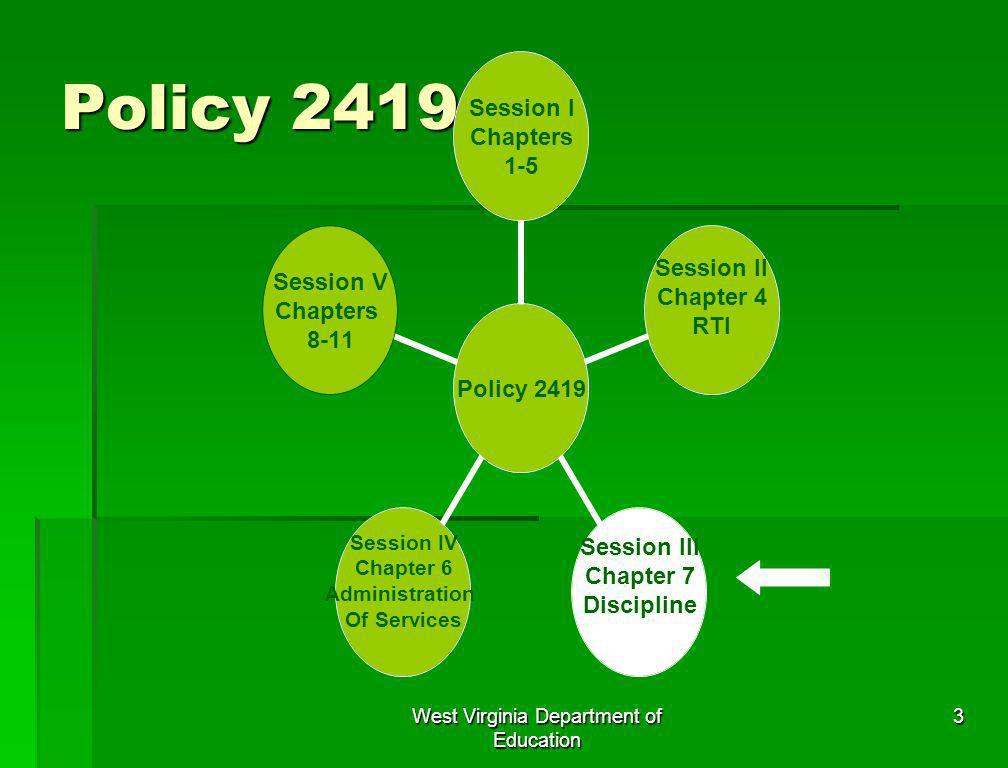 West Virginia Department of Education 3 Policy 2419
