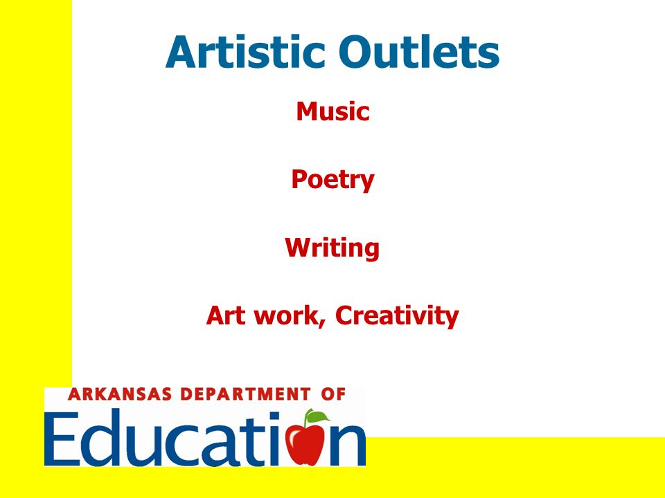Artistic Outlets Music Poetry Writing Art work, Creativity
