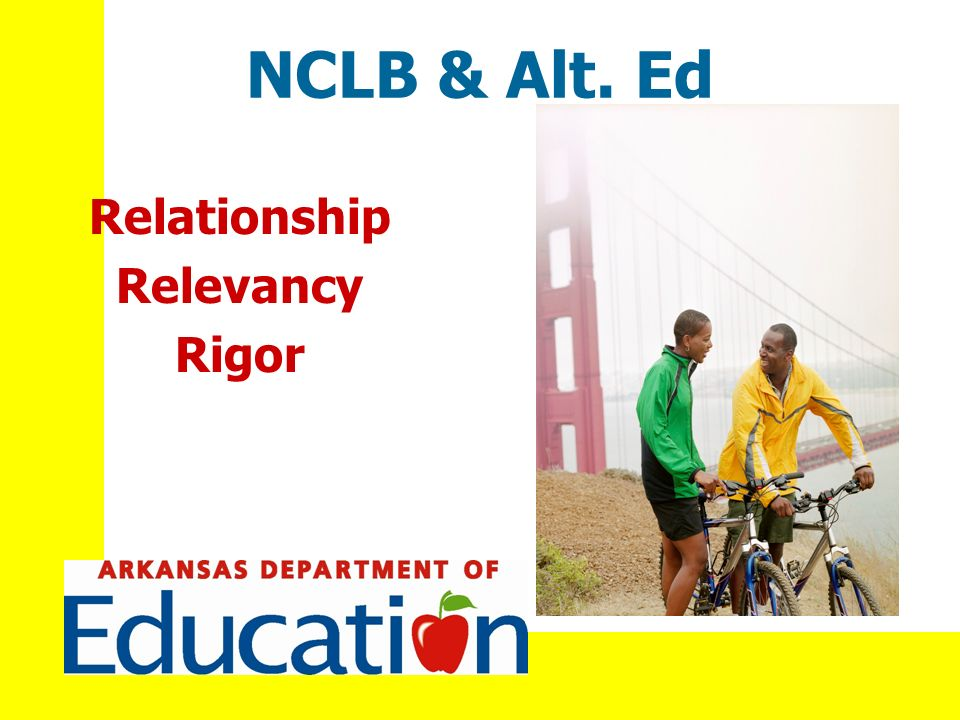 NCLB & Alt. Ed Relationship Relevancy Rigor