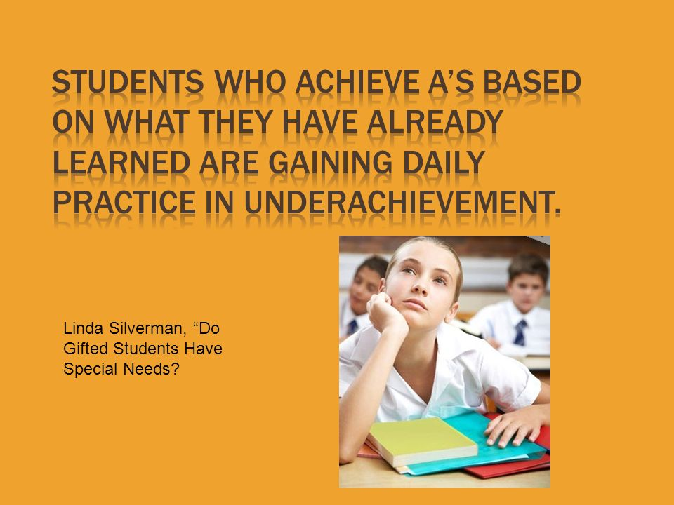 Linda Silverman, Do Gifted Students Have Special Needs?