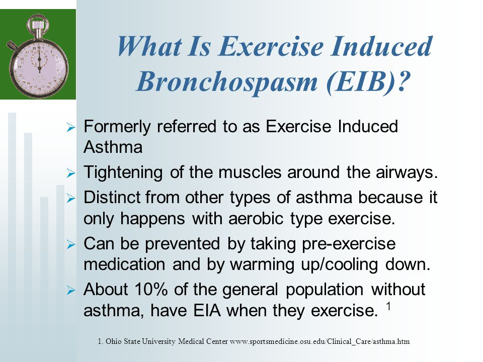 What Is Exercise Induced Bronchospasm (EIB).