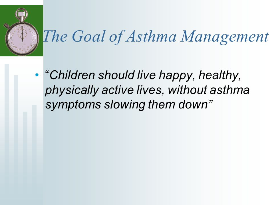 Athletes, Keep Asthma in Good Control Get and use an Asthma Action Plan Know symptoms and Peak Flow readings for each of the green-yellow-red zones.