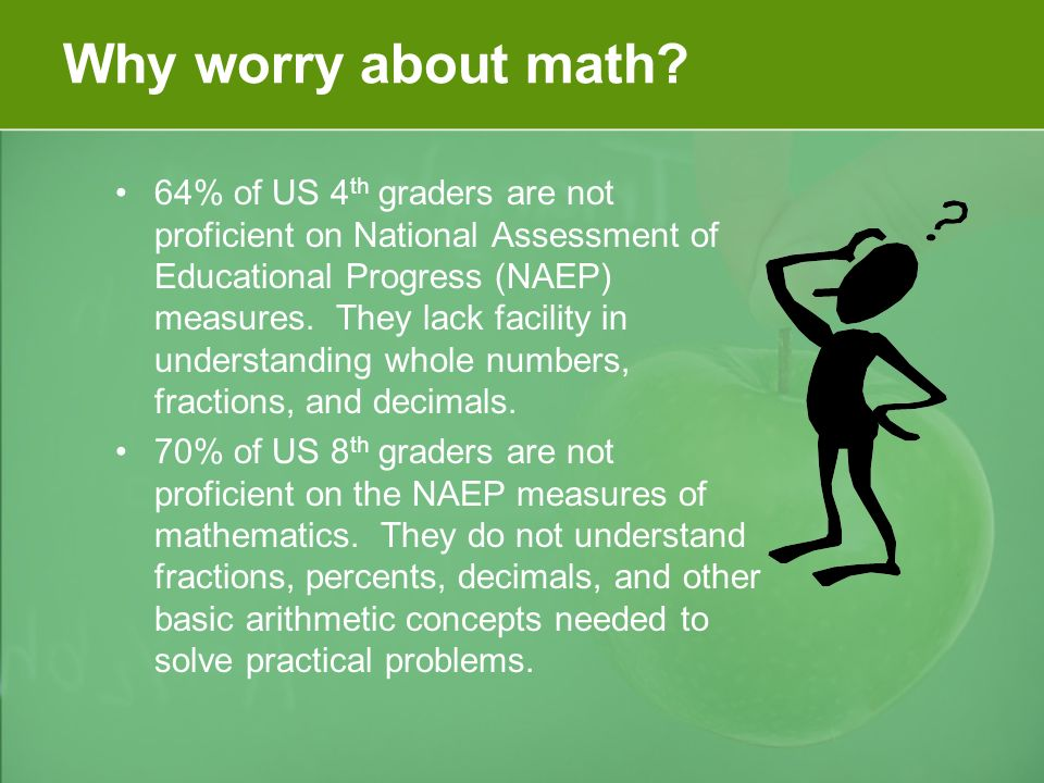 Why worry about math.