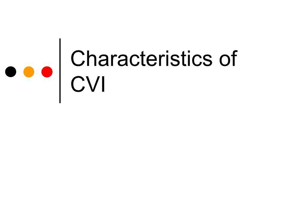 Characteristics of CVI