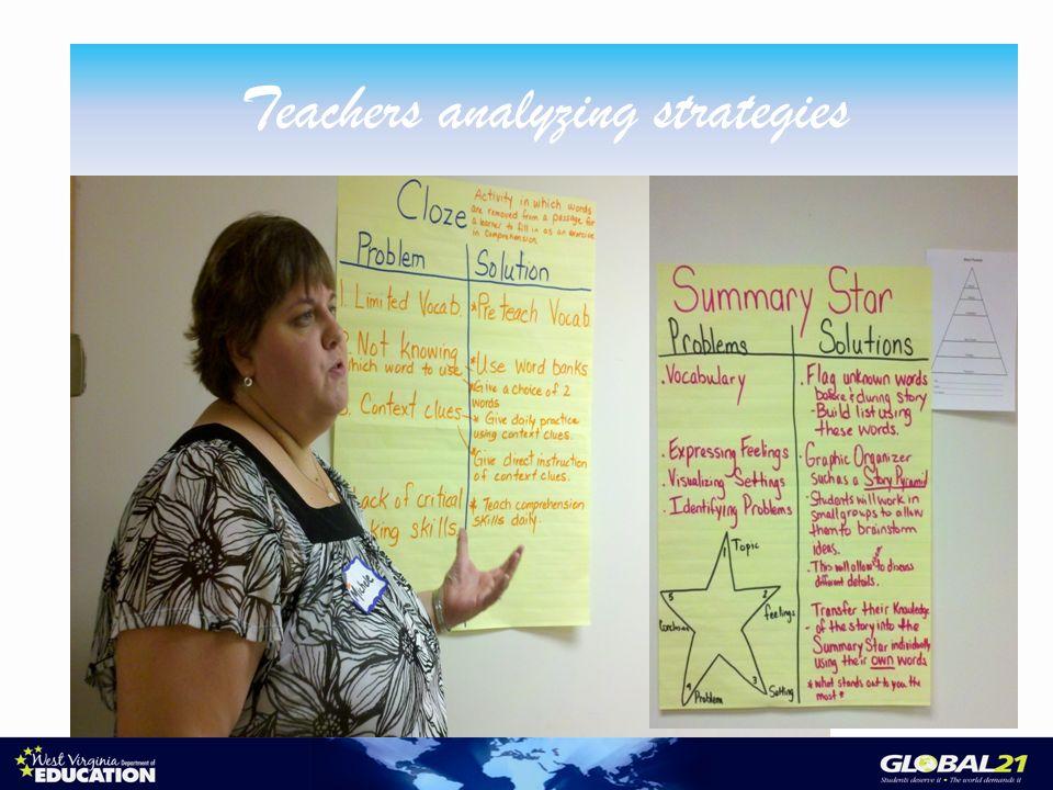 Teachers analyzing strategies