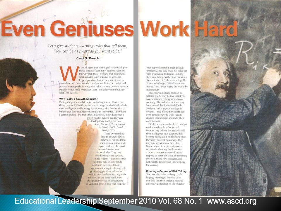 Educational Leadership September 2010 Vol. 68 No. 1 www.ascd.org