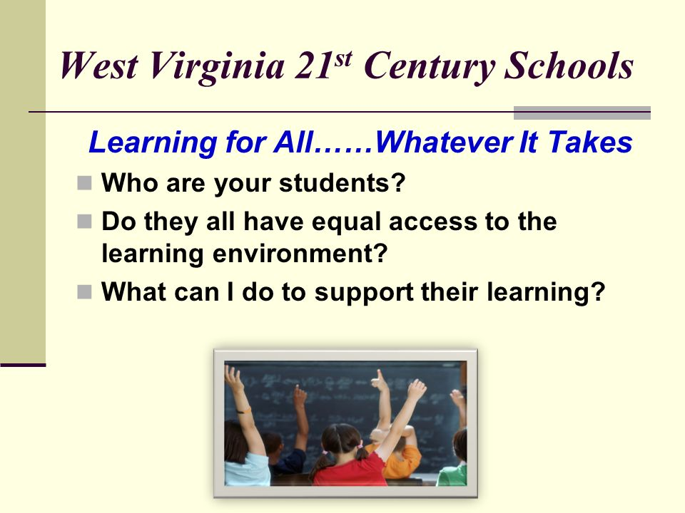 ASSISTIVE TECHNOLOGY IN THE SCHOOLS TOOLS FOR SCHOOLS : Technology Solutions in the Classroom Kathy Knighton (kknighto@access.k12.wv.us)kknighto@acces