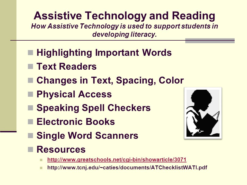 TECHNOLOGY SOLUTIONS Educational choices in Assistive Technology Instructional Use of Video & Captioning Multimedia Organizing Tools Providing Access