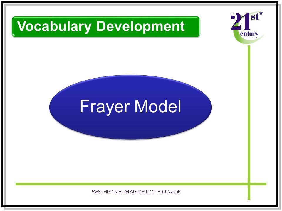 Vocabulary Development Frayer Model