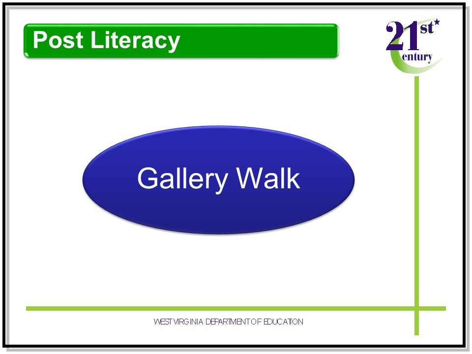 Post Literacy Gallery Walk