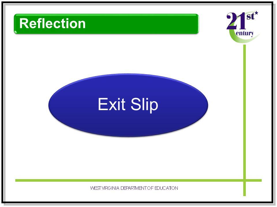 Reflection Exit Slip