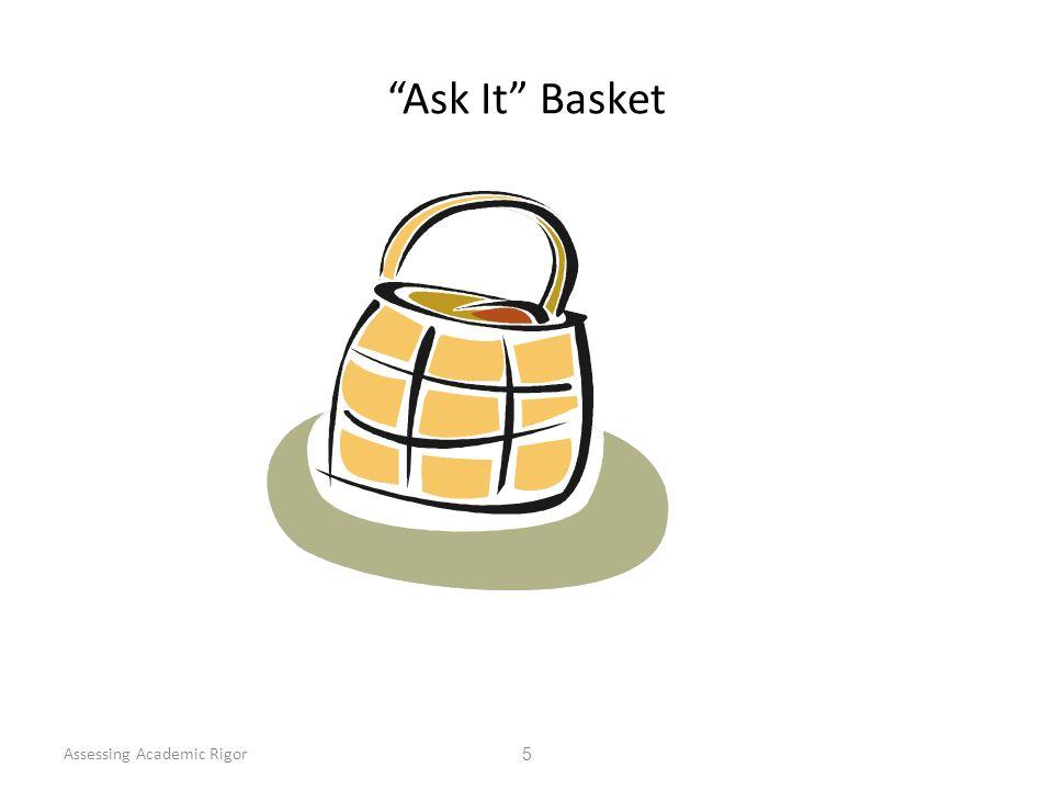Ask It Basket Assessing Academic Rigor 5