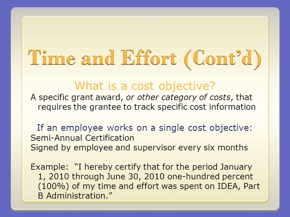 What is a cost objective.