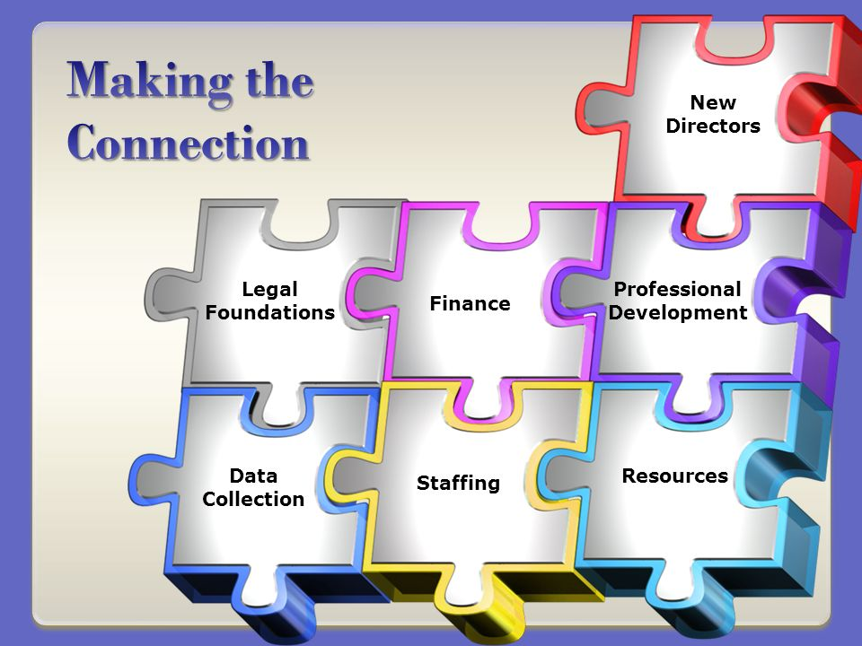 New Directors Legal Foundations Data Collection Resources Staffing Finance Professional Development