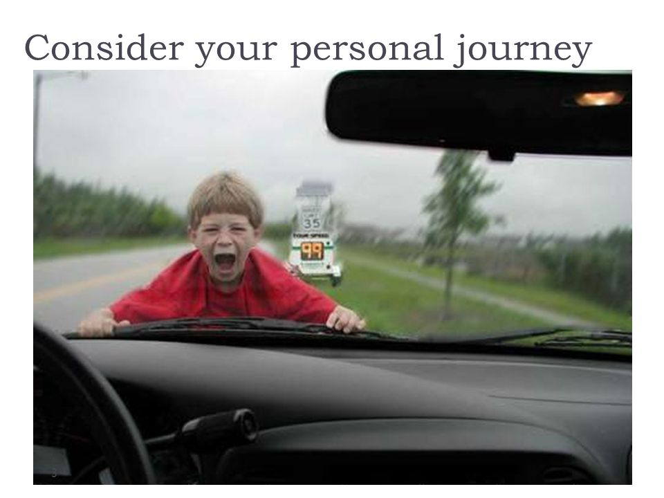 Consider your personal journey 3