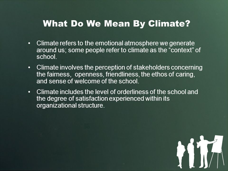 What Do We Mean By Climate.