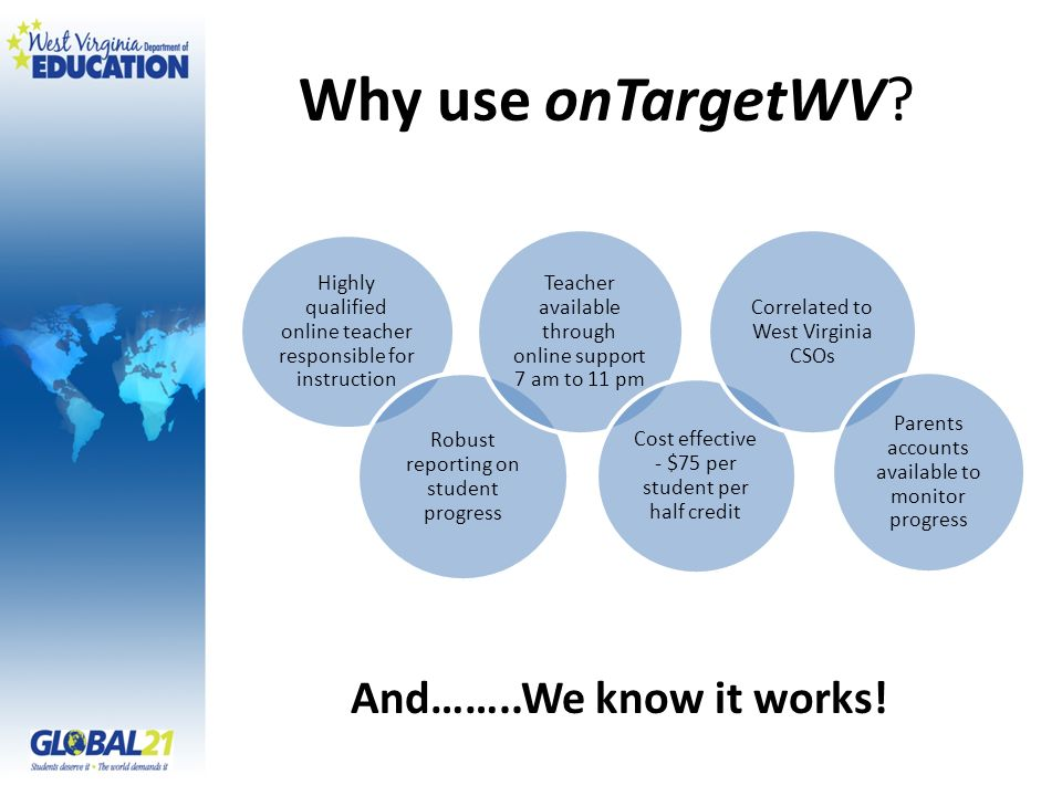 Why use onTargetWV.