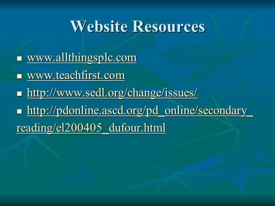 Website Resources www.allthingsplc.com www.allthingsplc.com www.allthingsplc.com www.teachfirst.com www.teachfirst.com www.teachfirst.com http://www.s