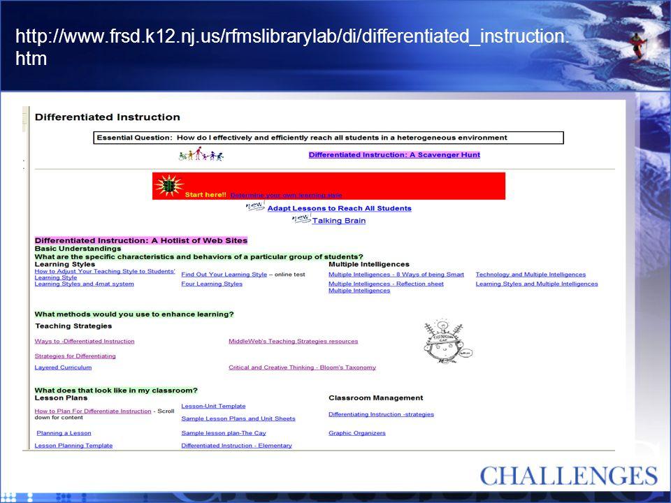 http://www.frsd.k12.nj.us/rfmslibrarylab/di/differentiated_instruction. htm