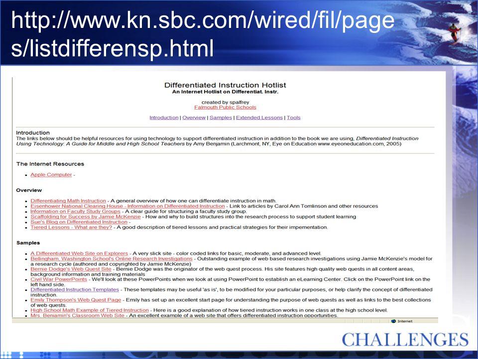 http://www.kn.sbc.com/wired/fil/page s/listdifferensp.html