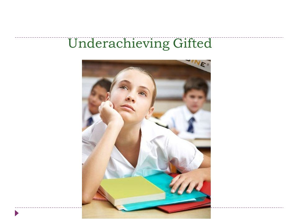 Underachieving Gifted