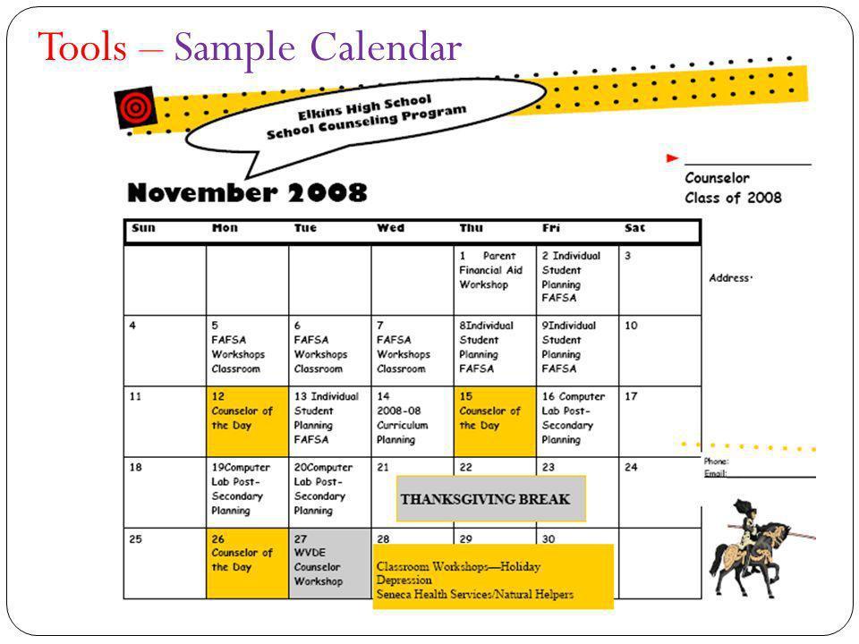 Tools – Sample Calendar