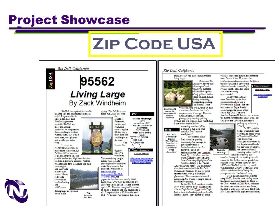 New Technology Foundation www.newtechfoundation.org Project Showcase Zip Code USA